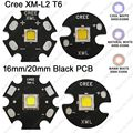 5x CREE XML2 XM-L2 T6 Cool White 6500K Neutral White 4500K Warm White 3000K High Power LED Emitter 16mm 20mm Black Aluminum PCB