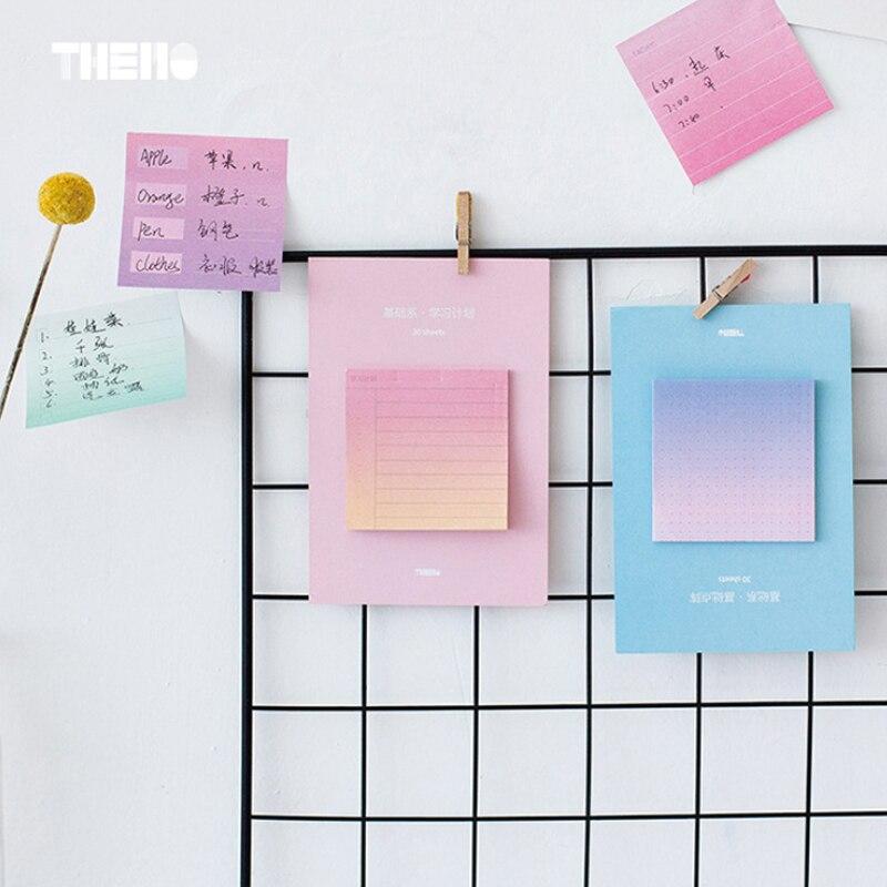 Gradient culori student memo pad planner lipicios notă de hârtie - Blocnotesuri și registre - Fotografie 3