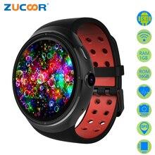 Android 5.1 Montre Smart Watch Téléphone MTK6580 1 GB/16 GB Z10 Smartwatch Soutien WiFi GPS Carte SIM Avec Caméra Moniteur de Fréquence cardiaque Fitness