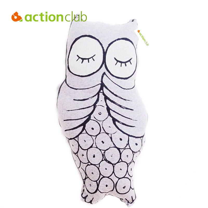 Actionclub Cute Owl Baby Toy Luminous Plush Toy Cushion Infant Comfort Dolls Animal Pillow Children Gift Home Decor Stuffed Doll  hot sale 2pcs 18cm super cute night owl plush toy doll baby toys owl stuffed animal doll best gift for kid free shipping