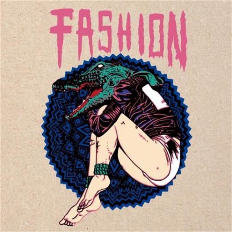 photograph regarding Printable Iron on Patches named US $2.04 Clothing released patch bundle with it crocodile female habit Warmth shift printing Iron upon patches for outfits Do-it-yourself structure emblem-inside of Patches