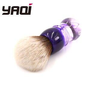 Image 5 - Yaqi fioletowy Haze Mew brązowy syntetyczny uchwyt męski pędzel do golenia brody