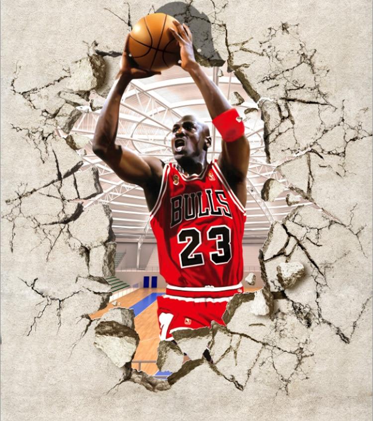 Basketball Star Michael Jordan Gym Entrance Background