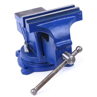 4/5/6 inch Bench Vise Vice Light Duty Mechanic Bench Vise Table Top Clamp Press Locking Swivel Base Workbench Tool Steel Jaws