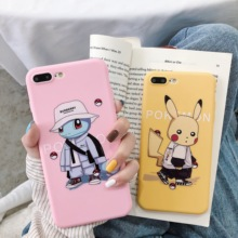 Pokemons Cartoon Pikachus Squirtle Phone Case Soft Cover For iPhone 6 6s 7 8 Plus X XS XR XSMax Cute