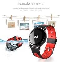 D8 redondo inteligente relógios de pulso bluetooth pressão arterial led relógio inteligente saúde rastreador de fitness masculino relógio feminino para ios android