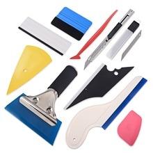 FOSHIO оконный ТИНТ набор инструментов виниловые наклейки для автомобиля набор инструментов автомобильные аксессуары углеродная фольга резиновая Швабра для окрашивания пленочный нож