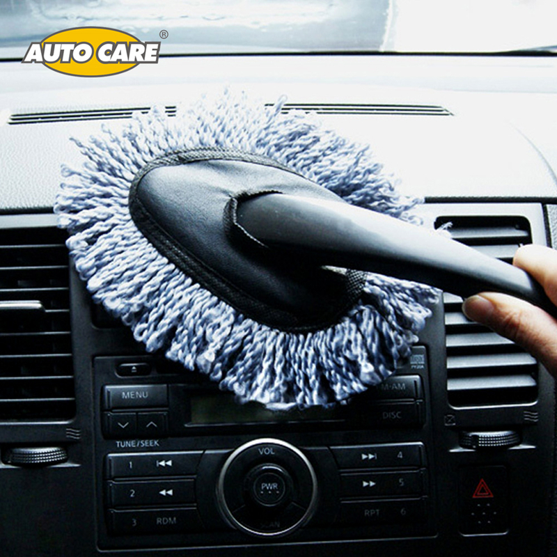 Grey Microfiber Car Duster Cleaning Dirt Dust Auto Clean Brush Dusting Tool Mop Gray 1 Piece цена