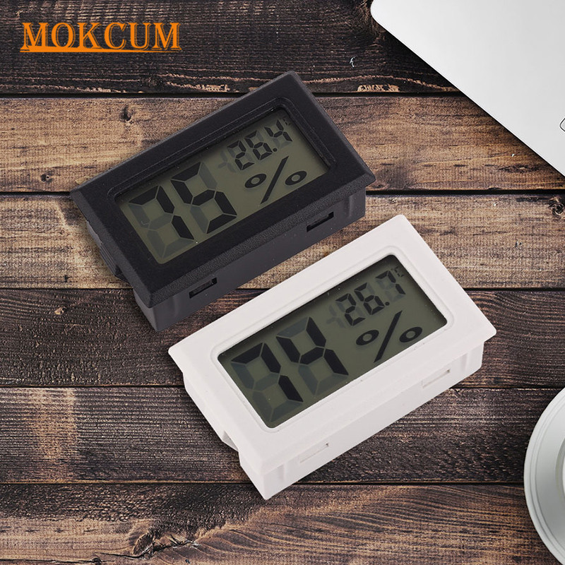 Mini Digital Thermometer Hygrometer Indoor Room Temperature Humidity Meter Convenient LCD Temperature Sensor Humidity Tester az8760 digital dry hygrometer greenhouse dry bulb thermometer and humidity figures temperature tester instrumentation