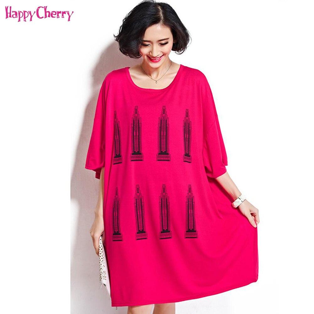 Happy Cherry Maternity Casual Dress Summer Fashion Large Size Women Skirt Breastfeeding Clothing Plus Size Pregnant Women Dress
