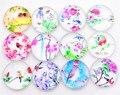Горячая распродажа 10 шт./лот 25 мм смешанные стеклянные кабошоны ручной работы (серия цветов)