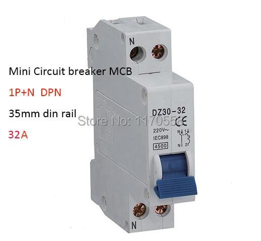 DPN 1P+N 32A Mini Circuit breaker MCB