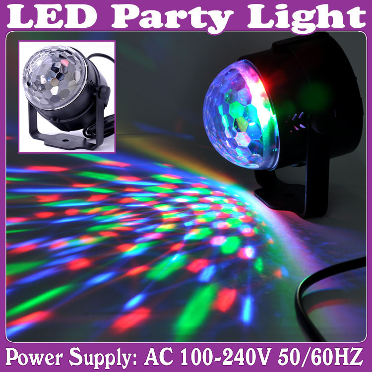 new 2014 mini RGB 3w LED Projector DJ lighting Light dance Disco ball bar par Party Xmas effect Stage Lights Show B32 free ship