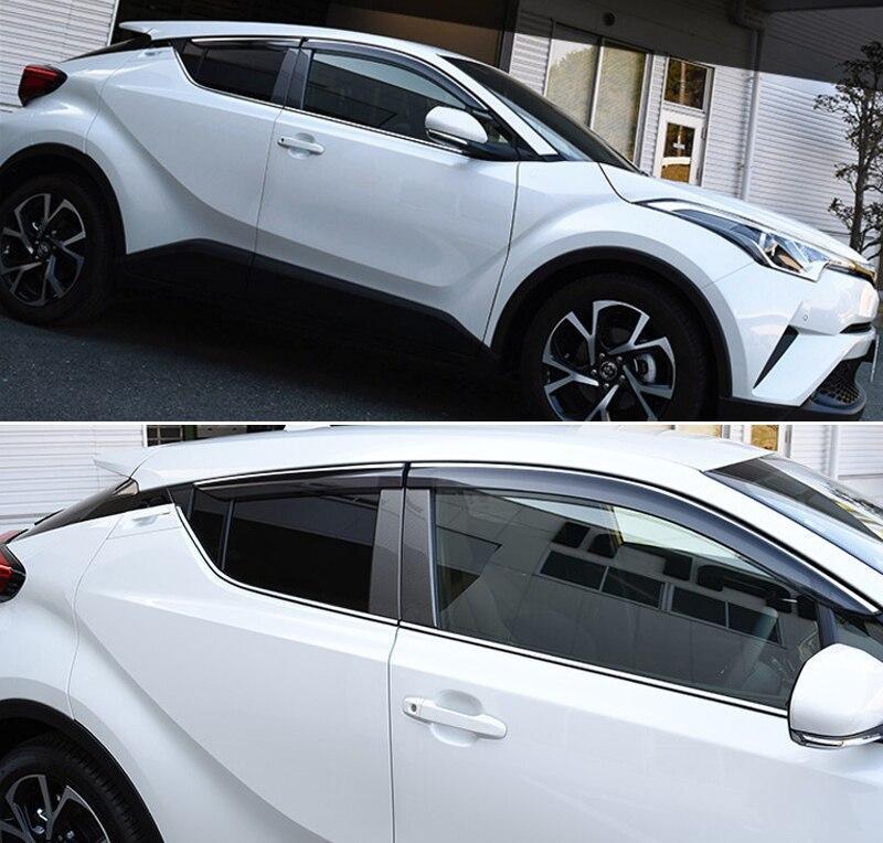 For Toyota C-HR CHR 2016 2017 2018 Car Window Visor Vent Shade Rain Sun Guard Cover Car Styling Auto Accessories