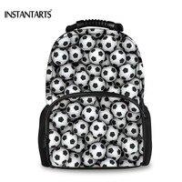 INSTANTARTS Cool Puzzle Balls Printed Felt Backpacks for Teen Boy Middle School Students Book Shoulder Bag Travel Laptop Daypack