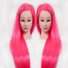 Hairdressing dolls head with rose red hair Female Mannequin Styling Training Head Nice high quality