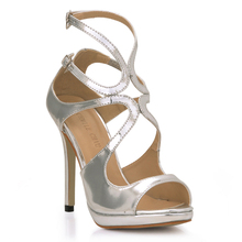 2106 New Sexy Party Shoes Women Stiletto High Heels Ladies Sandals Zapatos Mujer 0640A-5b недорго, оригинальная цена