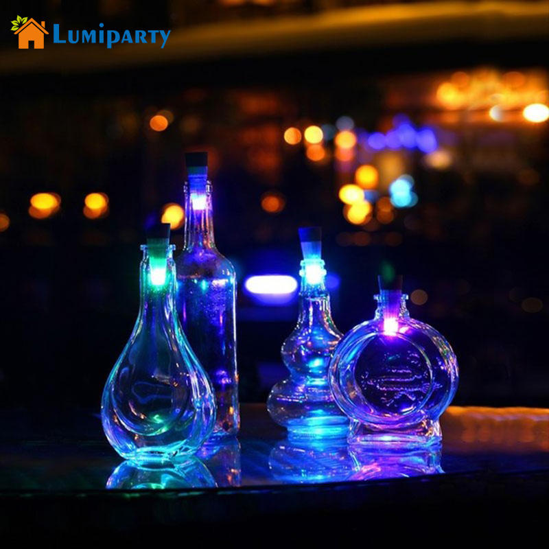 Lumiparty Bottle Light Cork Shaped Rechargeable LED Night