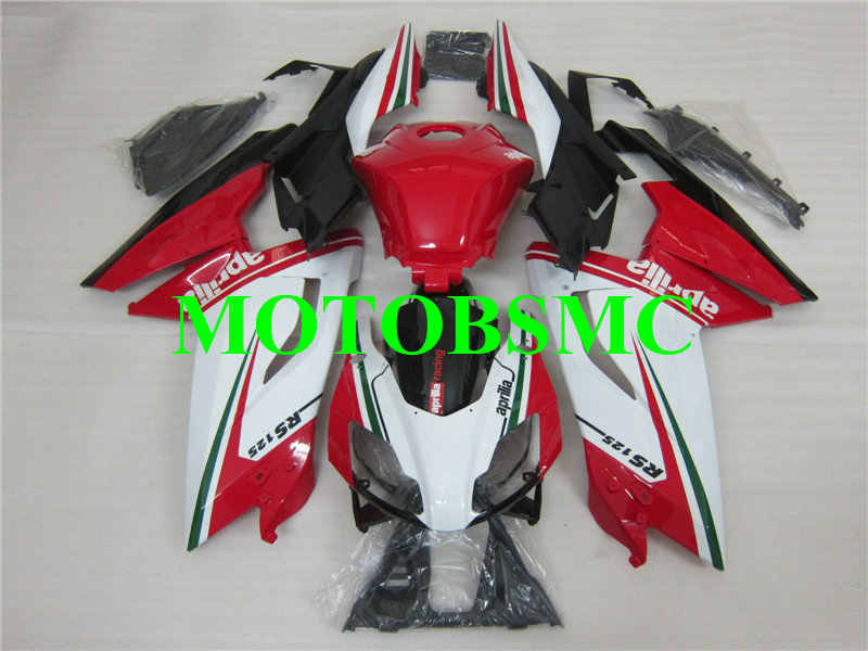 Injection mold Fairing kit for Aprilia RS125 06 07 08 09 10 11 RS 125 2006 2007 2011 Top Red white black Fairings set+Gifts AA05
