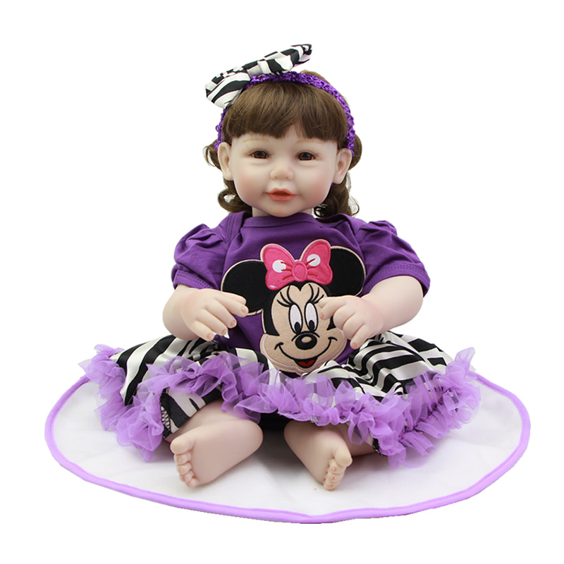 So Truly Real 20 Inch Reborn Dolls Silicone Vinyl Alive Princess Girl Babies Toy Cloth Body Baby Doll Kids Birthday Xmas Gift  realistic full vinyl 18 inch american doll girl baby reborn newborn dolls so truly real princess girls kids birthday xmas gift