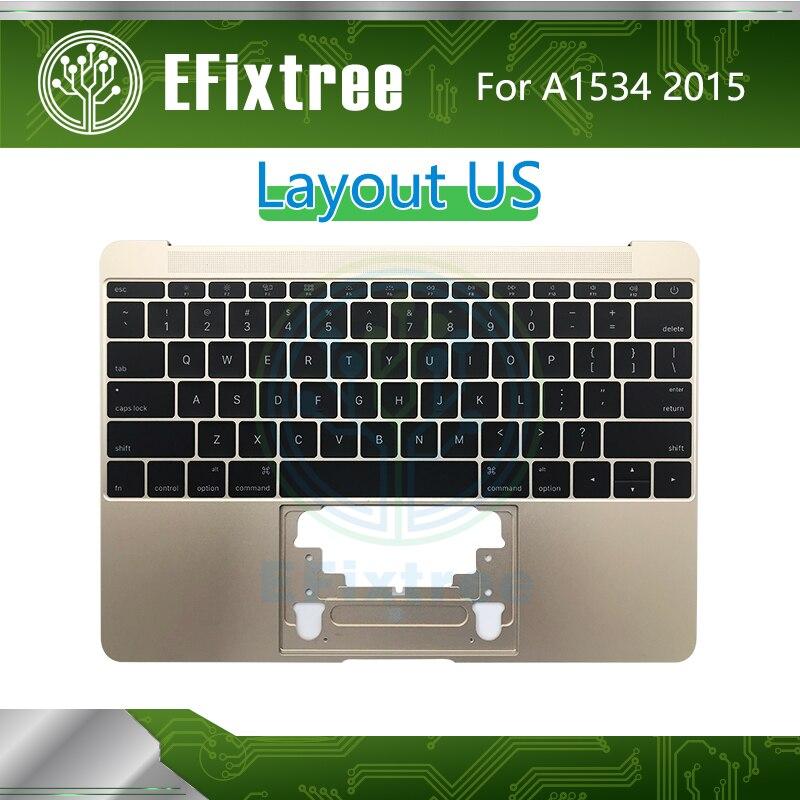 Testé 2015 Topcase C boîtier pour Macbook Retina 12 pouces A1534 boîtier supérieur avec clavier US anglais Palmrest EMC 2746