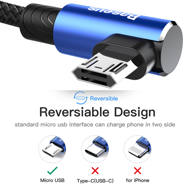 90 Degree Micro USB Cable