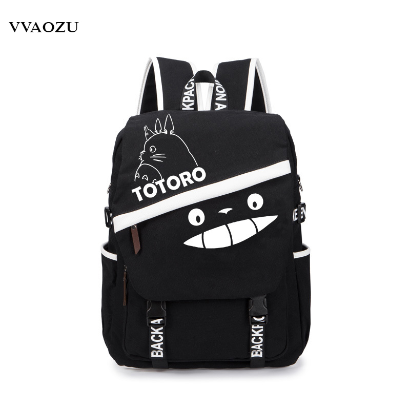 Tokyo Ghoul/One Piece/Totoro/Fairy Tail/Sword Art Online/Naruto/Gintama Canvas Backpack Schoolbag Backbag Rucksack Mochila ceative new arrival anime gintama fairy tail naruto one piece conan totoro etc khaki pu long wallet purse