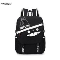 Tokyo Ghoul One Piece Totoro Fairy Tail Sword Art Online Naruto Gintama Canvas Backpack Schoolbag Backbag