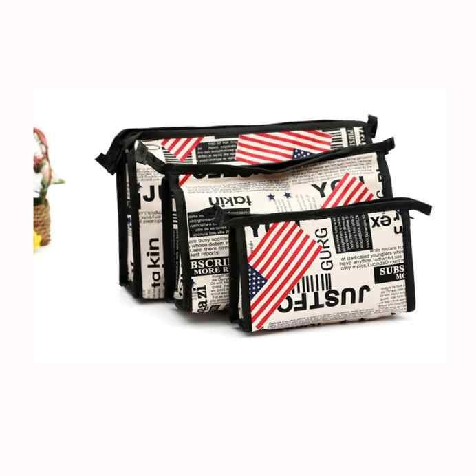 3 pcs Cosméticos de Higiene Pessoal Viagem Wash Bag Makeup Bolsa Titular Kits Conjunto Saco de Cosmética Para Make Up de Higiene Pessoal Bolsa de Viagem