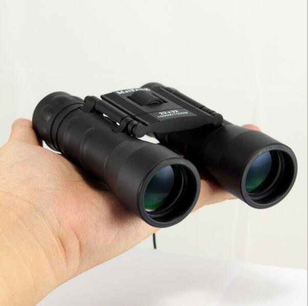 Maifeng 22X32 folding binoculars telescope eyepiece zoom 15007500M day and night vision telescopio binoculo for Camping hunting