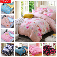 Floral Pink Duvet Cover Bedding Set Sheet Quilt Comforter Pillow Case Bed Linen Single Twin Full Double Queen King Size 200x230