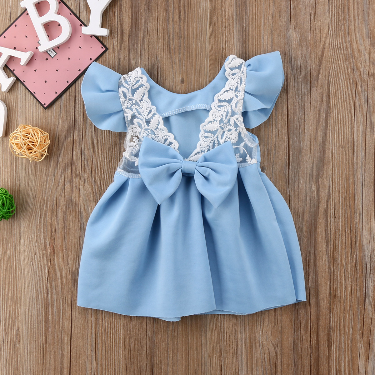 Pudcoco Baby Girls Dress Toddler Girls Backless Lace Bow Princess ...