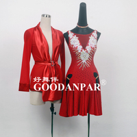 Mens Latin Dance Costumes Shirt Long sleeved Rumba Dancing Clothing latin dance dress Samba Dance Latin Salsa Dresses Goodanpar