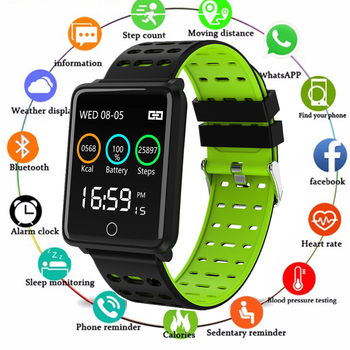 Smart Bracelet Heart Rate Blood Monitoring IP68 Waterproof Sports Fitness Tracker Smart Watch For Android IOS PK Q9 GT08 Watch