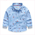 hot sale new spring&autumn children shirts casual penguin pattern boys shirts cotton long sleeve boys kids tops clothing ht013