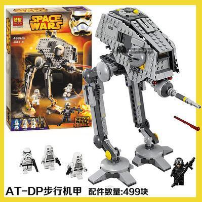 New BELA 10376 AT-DP Star Force Awake Toy Building Blocks 499PCS Bricks Star Birthday Gift Toys For Children L75083 2016 499pcs bela 10376 new star wars at dp building blocks toys gift rebels animated tv series compatible