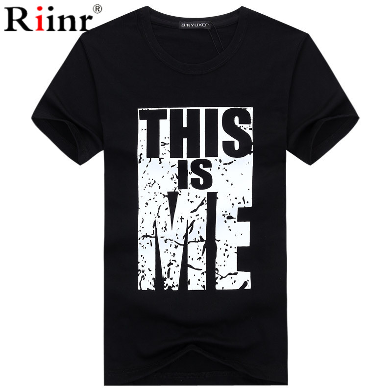Summer Letters Printed Camiseta Men O Neck T Shirt Fitness Clothing Soft Breathable Causal Men Tshirt For Male Plue Size 5XL