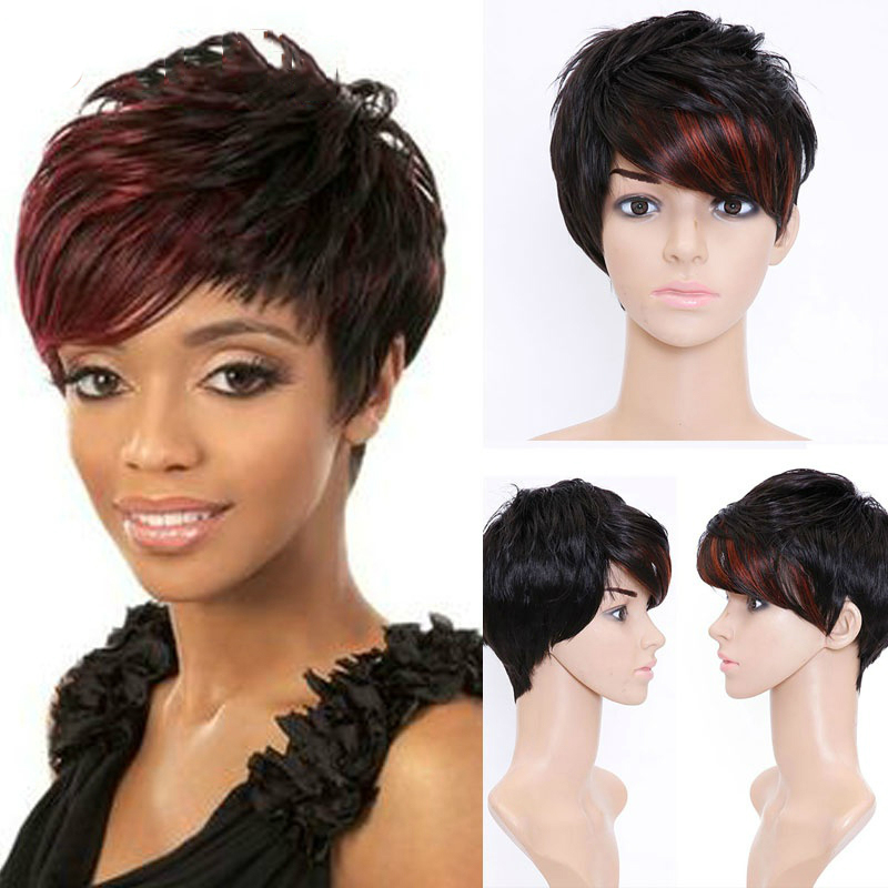 Allaosify Short Synthetic Wigs For Women Highlight Wigs