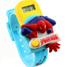 2016 Boys Girls Favorite Fashion Lovely Spider-Man Animation Electronic watch Christmas Children's Day Birthday Gift