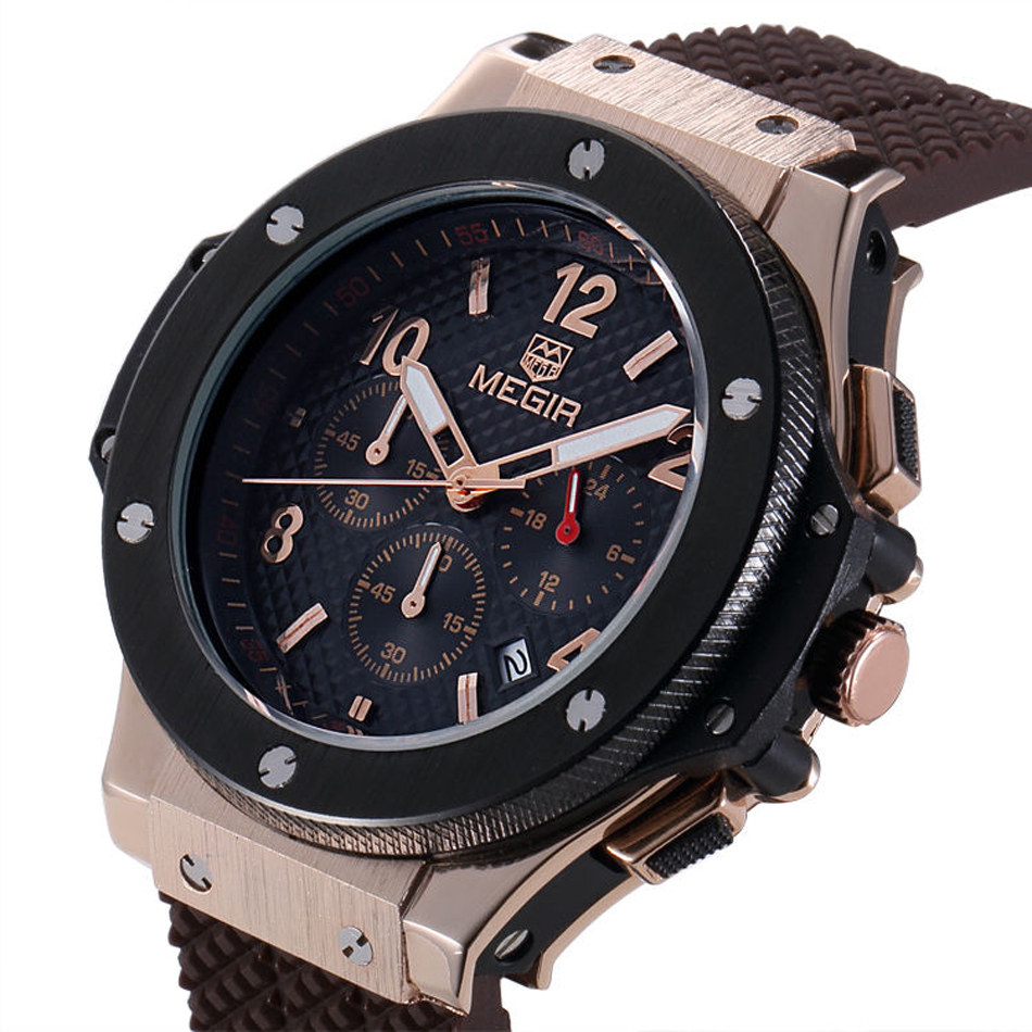 aliexpress com buy megir chronograph men sport watch top luxury aliexpress com buy megir chronograph men sport watch top luxury brand military watch relogio masculino 24 hours function quartz watches m3002 from