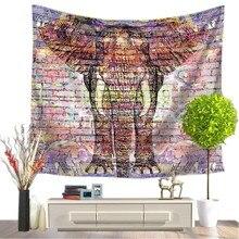 Tapisserie avec imprimé déléphant, Style indien, décoration murale, serviette de plage, Hippie, couverture de pique nique, pour dortoir