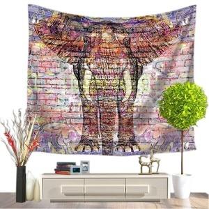 Image 1 - Tapisserie avec imprimé déléphant, Style indien, décoration murale, serviette de plage, Hippie, couverture de pique nique, pour dortoir