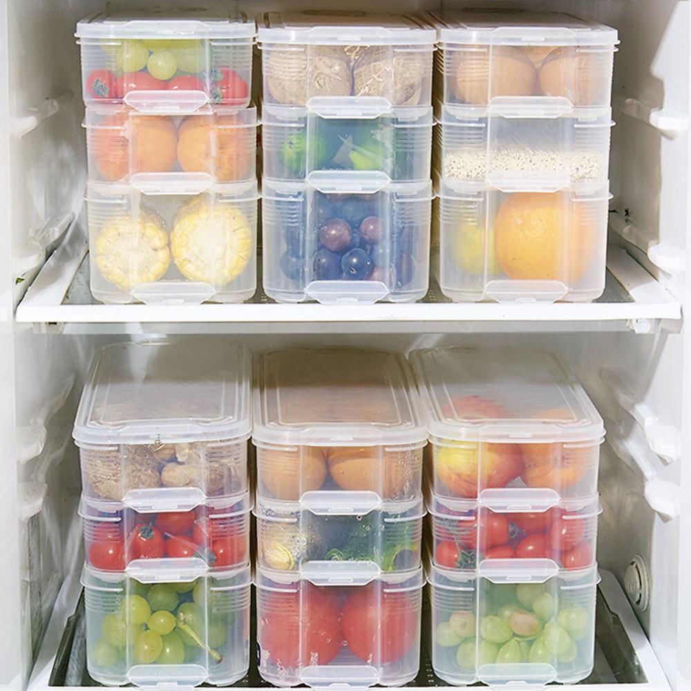 Storage-Rack Drawer Refrigerator Multi-Layer-Storage-Box Japanese Kitchen Environmentally-Friendly