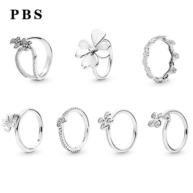 PBS 100%925 Sterling Silver Original Copy High Quality 1:1 2019 Latest Spring New Petals Ring With Logo Free ShippingPBS 100%925 Sterling Silver Original Copy High Quality 1:1 2019 Latest Spring New Petals Ring With Logo Free Shipping