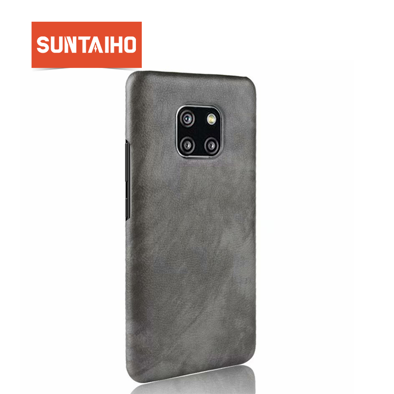 Suntaiho For Huawei Mate 20 X Case Luxury PU Leather for Huawei P20 Pro Mate 20 lite Hard Back Cover Protective Case nova3i Case