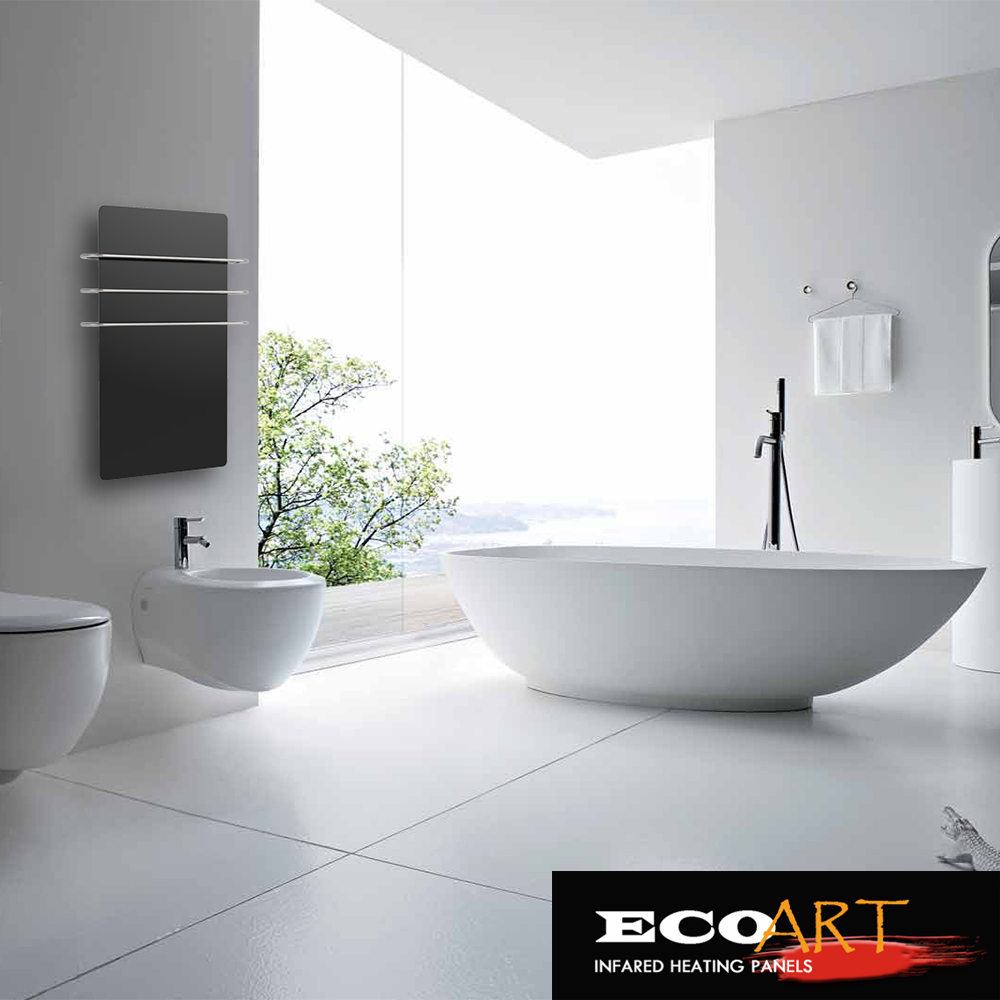 In wall heaters for bathrooms - 2016 Bathroom Glass Radiator Heaters With Heating Towel Rails Built In Timer