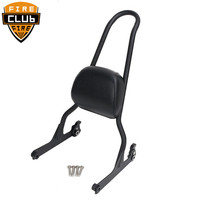 Motorcycle Luggage Rack Sissy Bar Passenger Backrest Cushion Pad For Harley Fatboy Softail CVO Night Train Cross Bones FLSTF