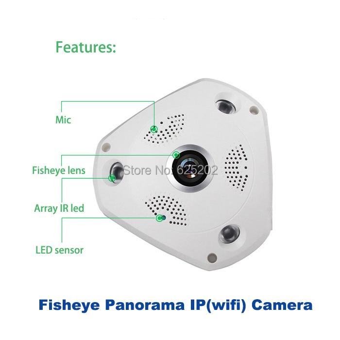2017 Sıcak HD 960 P 1.3MP Balıkgözü Panoramik SD Kart IP Kablosuz - Güvenlik ve Koruma - Fotoğraf 3