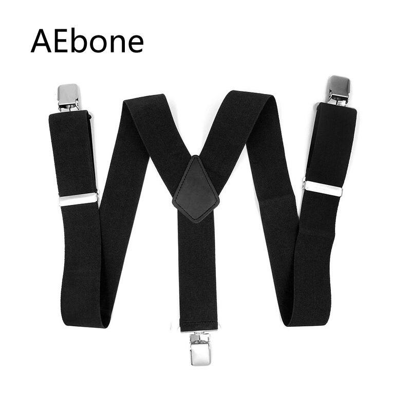 AEbone 50mm Black Suspensorio Masculino Suspenders Men For Pant With Heavy Clip Trousers Brace Strap Bretels Mannen 120CM Sus11