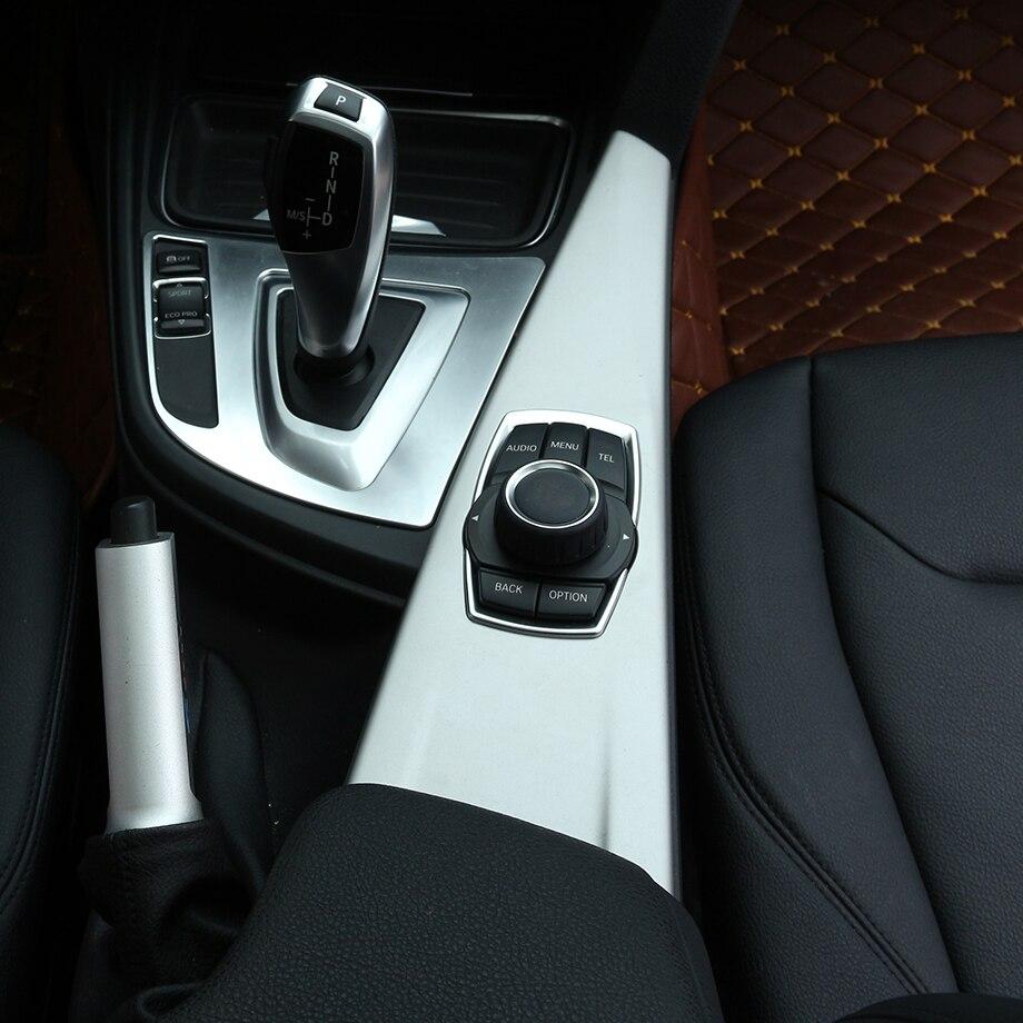 Chrome Gear Shift Panneau Garniture Autocollant De Voiture Pour BMW Série 3 f30 2013 2014 2015 Accessoire